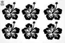 6 x Ibisco Fiore Decalcomanie-Adesivi in Vinile Hawaiano AUTO MOTO QUAD finestra