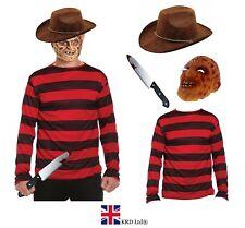 Mens Boys BURNT MAN Scary Halloween Adult Fancy Dress Costume Monster NEW UK