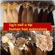 """7A U/Nail Fusion Keratin Tip Remy Human Hair Extensions 16""""18""""20""""22""""24""""26"""" 100s"""