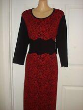 Jones New York Wear to Work Floral Print Knee Length Sweater Dress Sz S, M, L