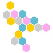 Pared Adhesivo geométrica hexágonos conjunto de 20 calcomanías de Nido de Abeja Decoración Minimalista