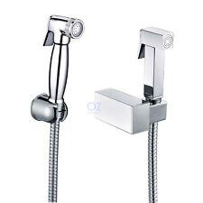 OZ Clean Wash Toilet Seat Handheld Shower Head Douche Bidet Spray Hose Bracket