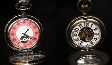 Mechanische SKELETT Antik Taschenuhr Handaufzug Movimiento Mecánico Pocket Watch