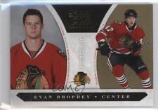 2010-11 Panini Luxury Suite Gold 184 Evan Brophey Chicago Blackhawks Hockey Card