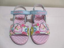 Lelli kelly Girls Sandals Beaded Aqua Blue/Pink w/Adjustable Front NIB 22/6 26/9