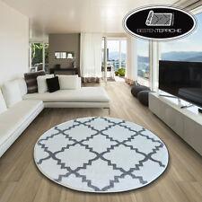 Modernen Weich Teppich SKETCH TRELLIS F343 Kreis weiß/grau angenehm modisch