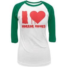 Halloween I Heart Horror Movies Juniors 3/4 Raglan T Shirt