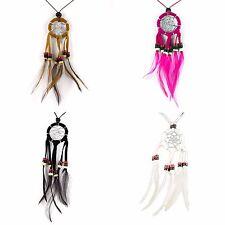 Halskette Dream Catcher Traumfänger echte Federn Farbauswahl Handarbeit N292