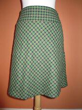 Ann Taylor LOFT Size 8P Green Dot Wool Blend A Line Skirt