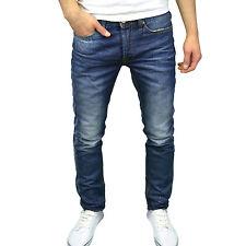 Crosshatch Mens Designer Washed Denim Regular Fit Straight Leg Jeans,  BNWT