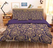 3D Rose Pattern Bed Pillowcases Quilt Duvet Cover Set Single Queen King Size AU