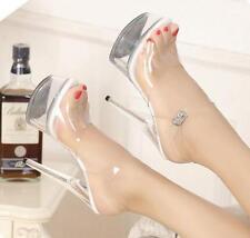 Women Sexy Platform Transparent Clear High Heel Stilettos Platform Sandals Shoes