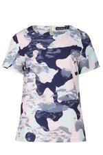Sugarhill Boutique Harriet Camo Print Tee Top XS-XL 8-16 Mint Green Navy & Peach