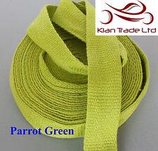 Perroquet vert 25mm coton sangle bande souple ceinture bracelet en tissu sac sew dress-mkh