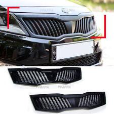 Front Bonnet Tuning Grille Black White For Kia Optima K5 2011-2013