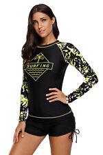 Women's Rash Guard Scuba Swimming Shirt UV Sun Protection Long-Sleeve  Lycra Top