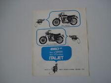 advertising Pubblicità 1970 ITALJET GRIFON/CALIFORNIA