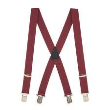 1.5-Inch Wide Construction Clip Suspenders (4 sizes, 12 colors)