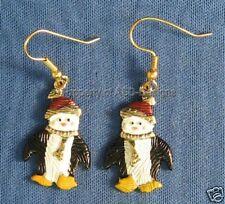 L.F Holiday Happy Feet Penguin Fish Hook Earrrings 5937