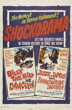 Billy the Kid Vs Dracula cult Horror movie poster print