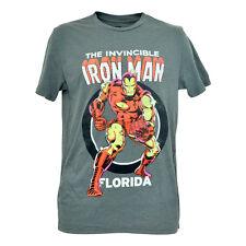 Official Disney Marvel Comics Invincible Iron Man Florida Mens Tshirt Tee