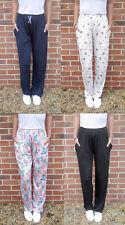 Extra Long Pantalon De Détente Pyjama Pj Bottoms marine noir motif fleuri gris grande Taille S M L