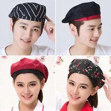 Chef Hat Cotton Cook Cap Beret Work Wear Kitchen Restaurant Cafe Cap