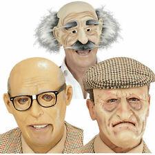 Old Man Grandad Grandpa Halloween Costume Disguise Elderly Senior Pensioner Mask