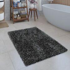 Moderne Badematte Badezimmer Teppich Shaggy Kuschelig Weich Einfarbig Grau