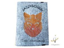 Jagdscheinhülle Jagdschein WBK Hülle Filz Jäger Waidmannsheil Fuchs Hirsch Hase
