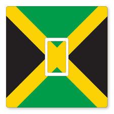 2 x JAMAICA - UK LIGHT SWITCH STICKERS, LIVING ROOM BEDROOM NURSERY DECOR