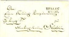 Berlin, Brief nach Stettin mit dem 1. Berliner Stempel, Feuser Nr. 249-1