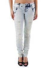 jeans donna sexy woman jeans con tasche bottoni effetto strappato comp…