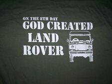 8º día Dios creó Land Rover Camiseta Todos Los Tamaños A Elección