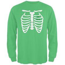 St. Patrick's Day - Shamrock Heart Skeleton Irish Adult Long Sleeve T-Shirt
