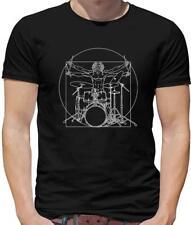 Vitruvian Man Drummer Mens T-Shirt - Drumming - Musician - Funny - Band - Music