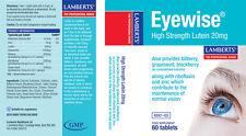 Lamberts eyewise Alta Resistencia luteína 20mg zeaxantina, planta de polifenoles, B 2+ Zinc