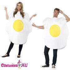 Fried Egg Unisex Food Couples Costume Easter Novelty Funny Comical Fancy Dress