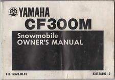 1988 YAMAHA SNOWMOBILE CF300M OWNERS MANUAL