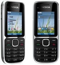 Original Black Great Condition Nokia C2-01 3G Unlocked Hebrew Mobile Bar Phone