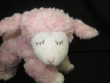 GUND PLUSH PINK BABY GIRL RATTLE LAMB OF GOD SHEEP WINKY PLUSH STUFFED ANIMAL