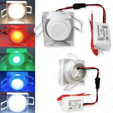 LED Spot encastré lampe encastrée avec transformateur cristal carrée 230v