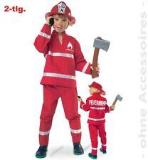 *SONDERPREIS* 2-teiliges Kostüm Feuerwehr rot, Gr 98, 128, 140, 152