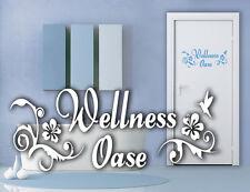 Wandaufkleber: Wellness Oase - Wellnessoase Badezimmer Bad Kolibri WandTattoo