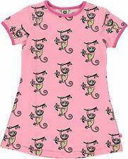 SMAFOLK Kleid Affen Affe Monkey rosa  kurzarm  92 98 104 110 116 122 128 NEU
