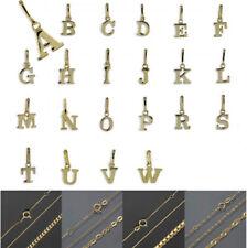 Buchstabe Anhänger ECHT 333 Gold Schmuck Ketten Buchstaben Damen Herren Kinder