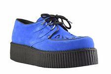 Acier Terrain Chaussures De Daim Bleu creepers Haute Semelle D Anneau Casual Rock Sc300Z6