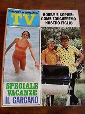 """"""" TV SORRISI E CANZONI """"B.SOLO N°22 GIUGNO 1968"""