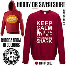 Its a Staffy not a Shark Hoody or Sweatshirt Staffordshire Bull Terrier Dog D652