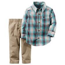 Carter's Infant & Toddler Boys Plaid Button Shirt & Pants Set